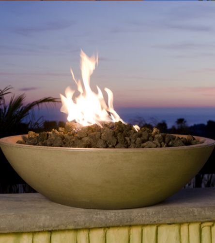"40"" Marseille Fire Bowl in Black Lava Finish with AWEIS System - LP"