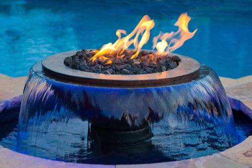 Copper 360 Deg Electronic Ignition Water Effect - LP