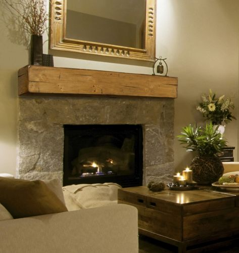 "Lexington 60"" Shelf or Mantel Shelf in Rustic Distressed Unfinished"