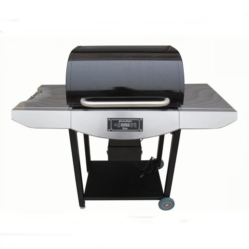 Original Smoke-N-Hot Pellet Grill Pro. - Stainless Steel