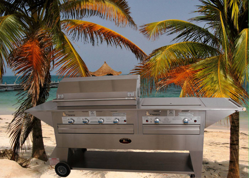 Lazy Man Mobile Outdoor Barbecue - Six Burner - Natural Gas Model