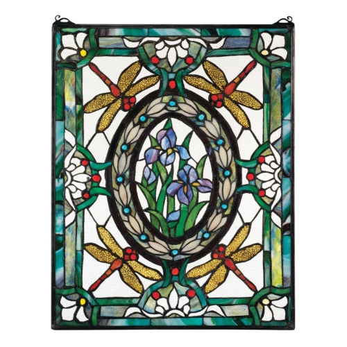 Design Toscano Dragonfly Floral Stained Glass Window at Sears.com
