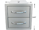 """14"""" Flush Double Access Drawers"""