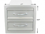 """17"""" Premium Double Access Drawers"""