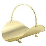 """19"""" Polished Brass Woodbasket"""