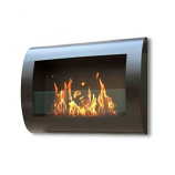 Anywhere Indoor Wall Mount Fireplace-Chelsea Black
