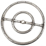 "12"" Diameter Stainless Steel Fire Ring"