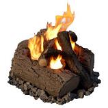 4-Can Outdoor Log Set - Oak