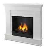 Chateau Corner Gel Fuel White Fireplace