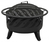 Firewave Patio Lights Fire Pit, Black Sandpaint & Matte Black Screen