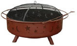 Super Sky Stars And Moon Fire Pit - Georgia Clay Finish