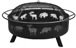 Super Sky Wildlife Fire Pit - Black Finish