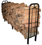 8' Contemporary Arch Hammered Bronze Log Rack