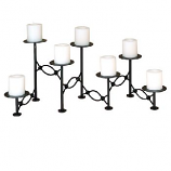 Adjustable Chain Hearth Candelabra in Black