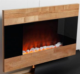 Corbridge Wood Finish Electric Fireplace