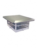 "HS-C43F1313 - Aluminum Homestyle Direct Vent Cap 13x13 Body- 4""&3"""