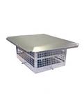 "HS-C43F913 - Aluminum Homestyle Direct Vent Cap 9x13 Body- 4""&3"""