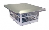 "HS-C33F99 - Aluminum Homestyle Direct Vent Cap 9x9 Body- 3""&3"""