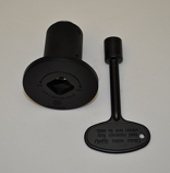 HPC 0.5 Inch Flat Black Angle Decorative Key Valve Kit