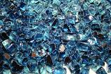 HPC 0.25 Inch Pacific Blue Reflective Decorative Fire Pit Glass- 10LB Bag