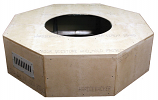 HPC 54 Inch Octagon Unfinished Firepit Enclosure Only