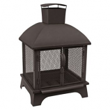 Landmann Redford Outdoor Fireplace - Black