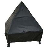 24 IN Tudor Fire Pit Cover Black PVC