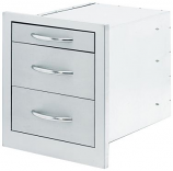 Cal Flame 3 Wide Storage Drawers