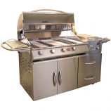 A-La-Cart Deluxe 4-Burner SS Grill CART ONLY (Grill Head & Side Burner Sold Separately)