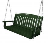 """POLYWOOD Nautical 48"""" Swing in Green"""