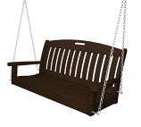 "POLYWOOD Nautical 48"" Swing in Mahogany"