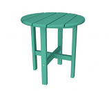 """POLYWOOD Round 18"""" Side Table in Aruba"""