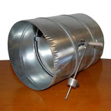 "12"" Barometric Relief Damper - Silver"
