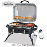 Stainless Steel Ourdoor Prpane Portable Gas Barbeque Grill with Locking Lid