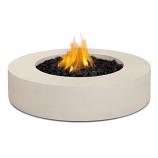 Real Flame Mezzo Round Propane Fire Pit, Antique White