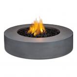 Real Flame Mezzo Round Propane Fire Pit, Flint Gray
