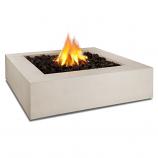 Real Flame Mezzo Square Propane Fire Pit, Antique White
