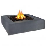 Real Flame Mezzo Square Propane Fire Pit, Flint Gray