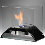 Eco-Feu Sunset Gloss Black Bio-Ethanol Tabletop Fireplace