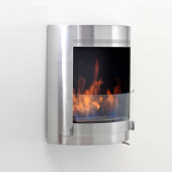 Eco-Feu Malibu Stainless Steel Bio-Ethanol Wall Mounted Fireplace