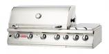 "Bull BBQ 47"" 7-Burner Stainless Steel Built-In Natural Gas Grill Head - Back Burner"