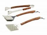 Vineyard 3-Piece BBQ Tool Set with Rosewood Handles - Bull BBQ