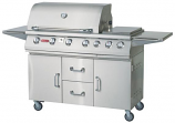 Bull BBQ Outdoor 7 Burner Premium Natural Gas Grill and Cart