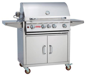 30 Inch 4-Burner Stainless Steel Bull Outdoor Angus Natural Gas Grill
