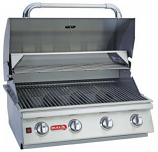 30 Inch Stainless Steel Lonestar Select 4-Burner Barbecue Grill � Natural Gas
