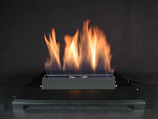 "20"" Single Face Black finish Natural Gas Burner with Manual Control"