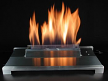 "20"" Double Face Black finish Natural Gas Burner with Manual Control"