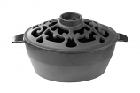Small Filigree 2 Qt.  Black Matte Steamer