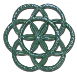 Forest Green Circle & Star Trivet