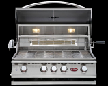 Cal Flame P4 4-Burner Built In Propane Gas Grill